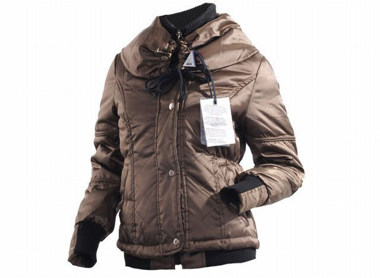 Moncler Jacket W-01 Women Jacket Brown