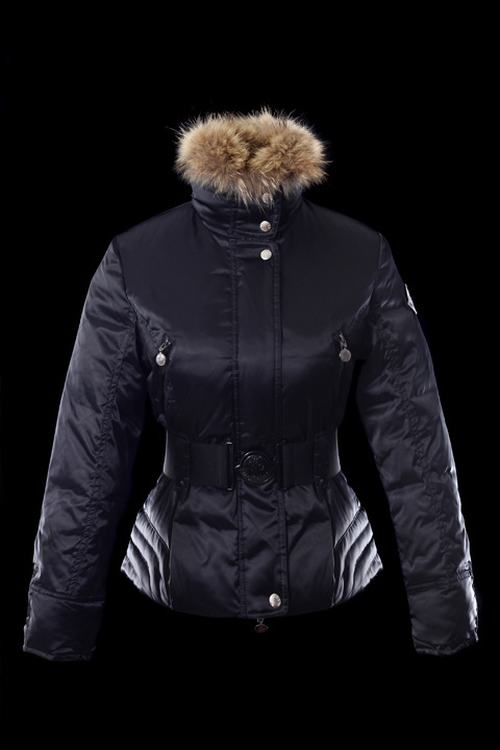 Moncler Jacket W-01 Women Jacket Dark Blue