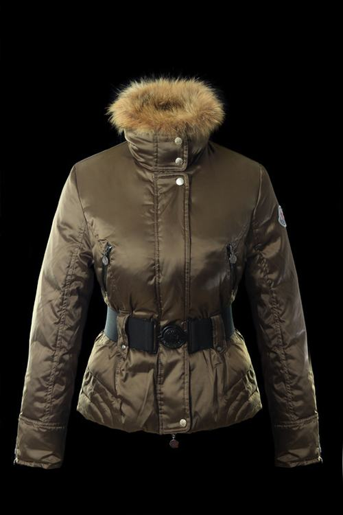 Moncler Jacket W-01 Women Jacket Light Brown