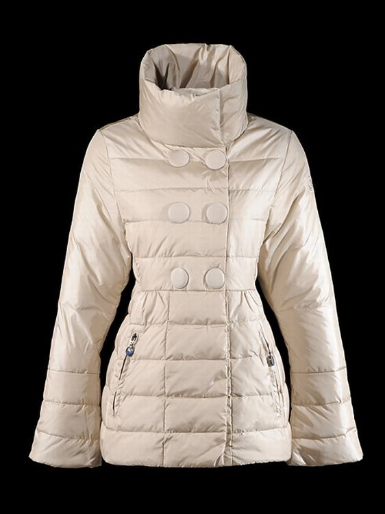 Moncler Kelly Women Jacket Cream White