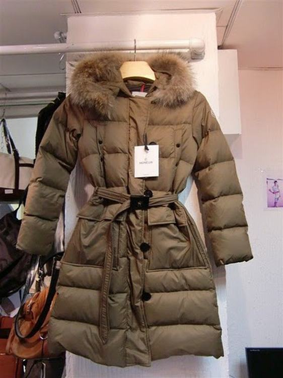 Moncler Messina Women Jacket Brown