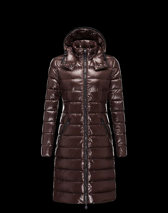 Moncler Moka Women Jacket Brown Red
