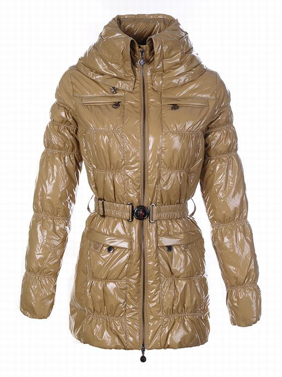 Moncler Ocelot Women Jacket Yellowish Brown
