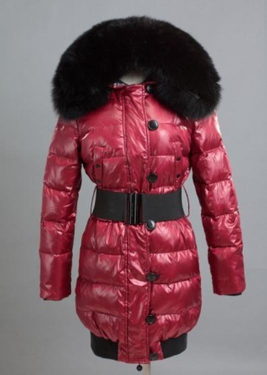 Moncler Pop Star Women Jacket Red Black