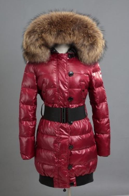 Moncler Pop Star Women Jacket Red Brown