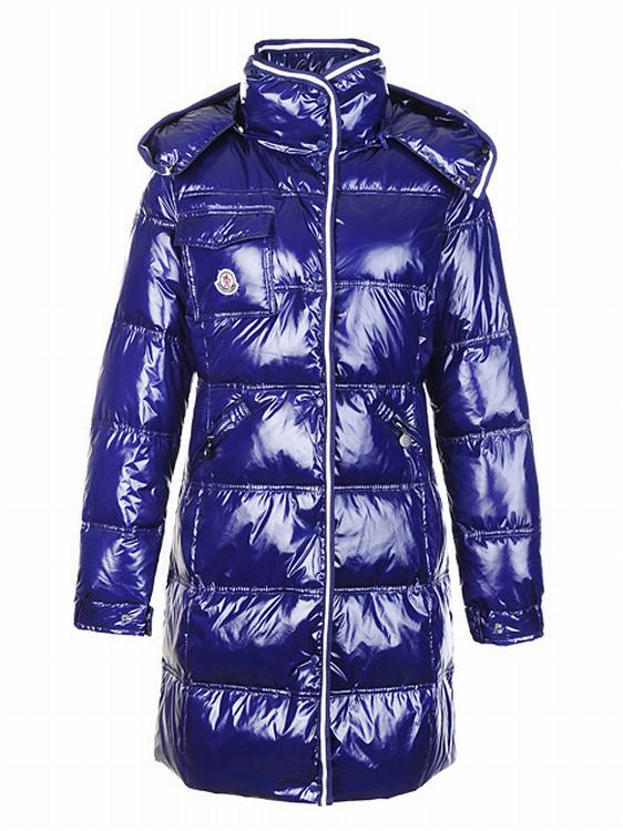 Moncler Quancy Women Long Jacket Purple Blue