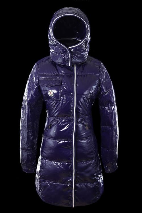 Moncler Quancy Women Long Jacket Purple