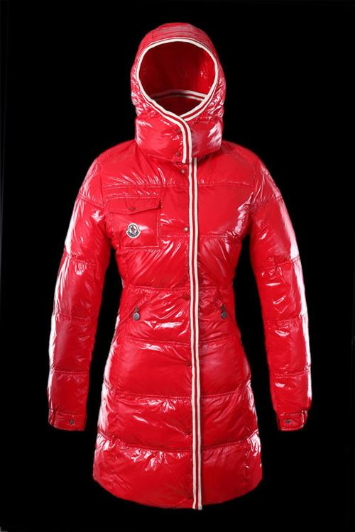 Moncler Quancy Women Long Jacket Red