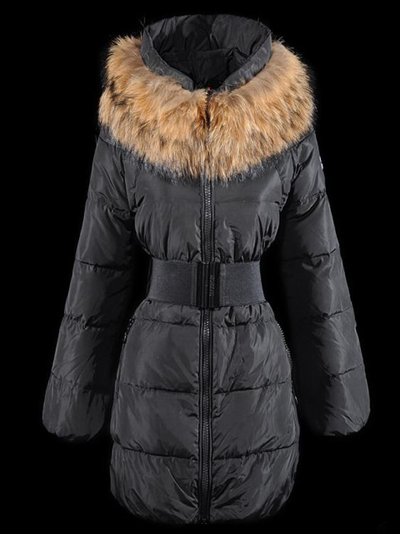 Moncler Sauvage Women Long Jacket Black