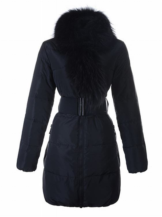Moncler Sauvage Women Long Jacket Blue