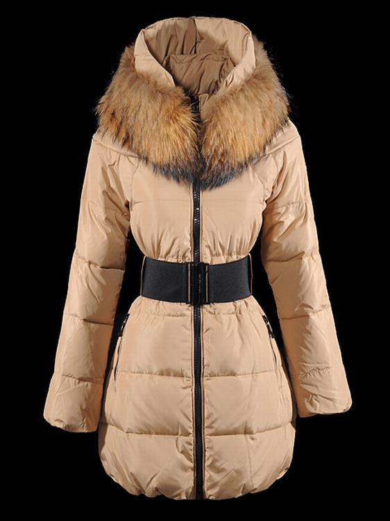 Moncler Sauvage Women Long Jacket Dark Cherry