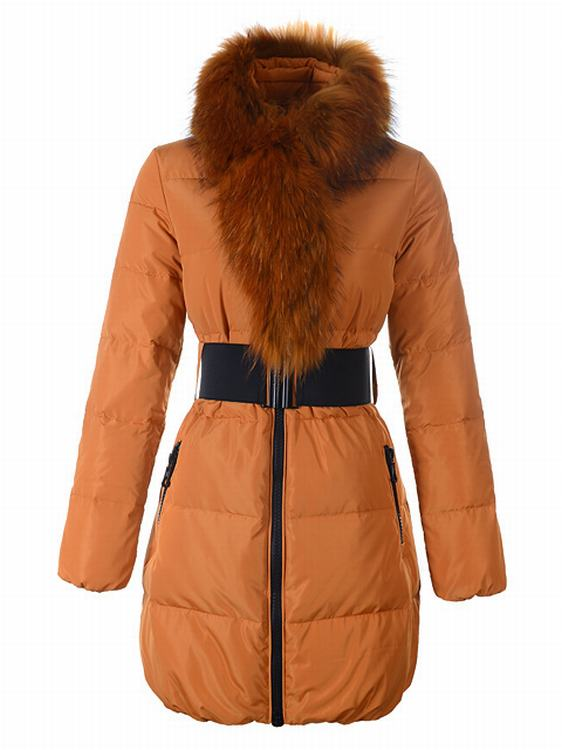 Moncler Sauvage Women Long Jacket Orange Red