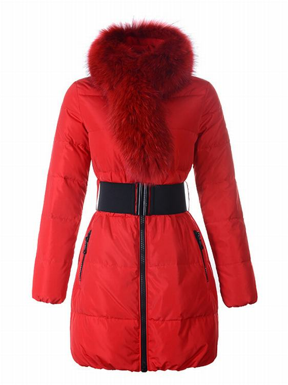 Moncler Sauvage Women Long Jacket Red