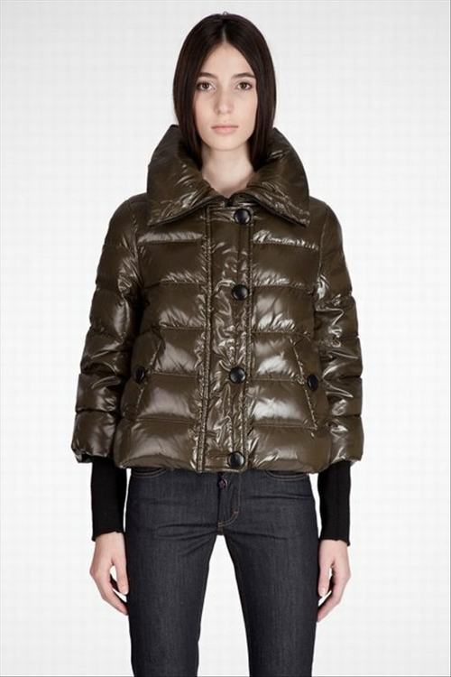 Moncler Tulsa Women Jacket Green Brown