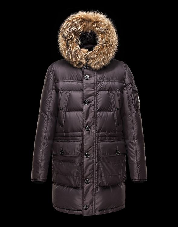 Moncler Affton Men Jacket Purple Brown
