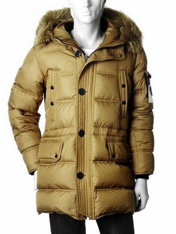 Moncler Affton Men Jacket Yellowish Brown