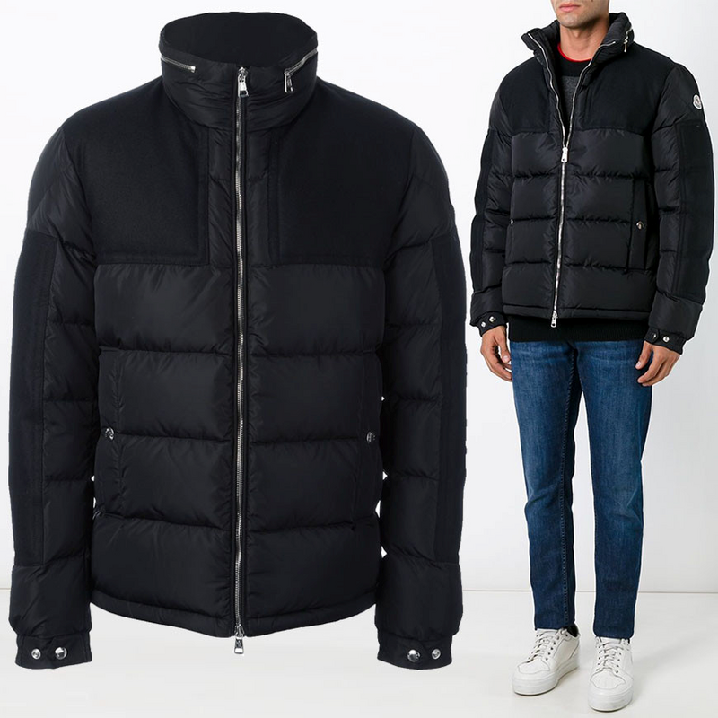Moncler Arcs Men Jacket Dark Blue Black