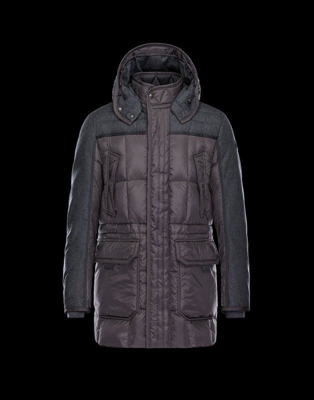 Moncler Arvier Men Jacket Brown Grey