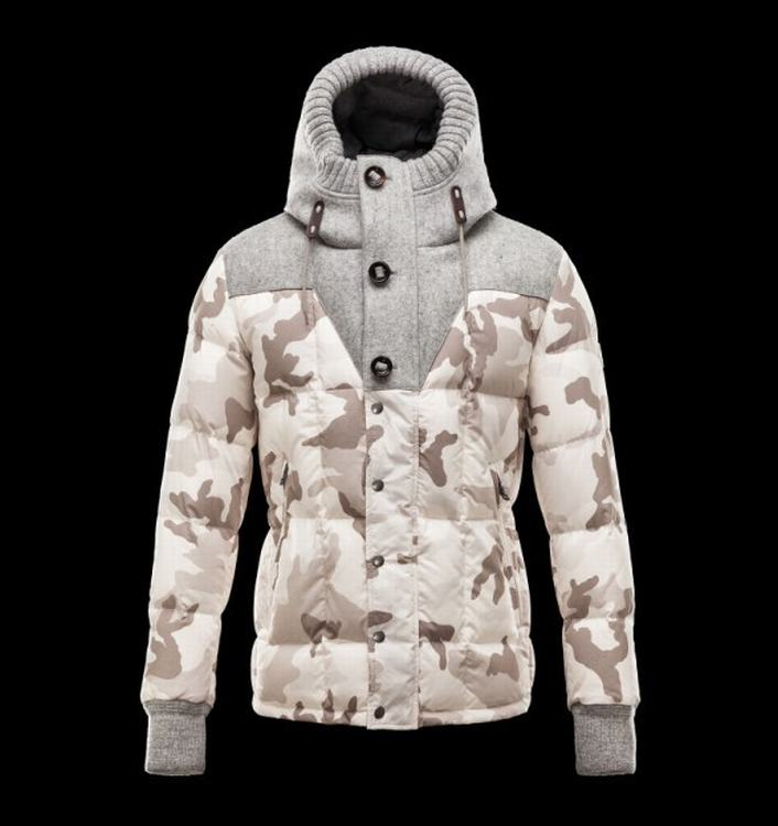 Moncler Beaumont Men Jacket Grey White