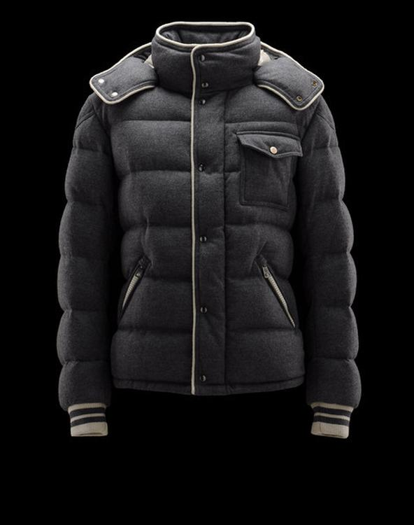 Moncler Bresle Men Jacket Dark Grey