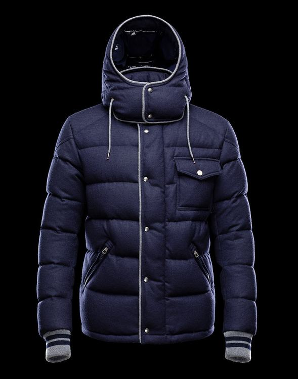 Moncler Bresle Men Jacket Navy Blue