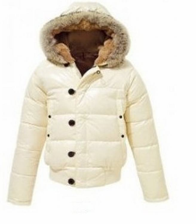 Moncler Bulgarie Men Jacket Cream White