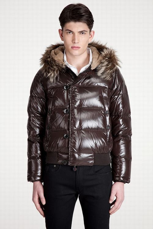 Moncler Bulgarie Men Jacket Dark Brown