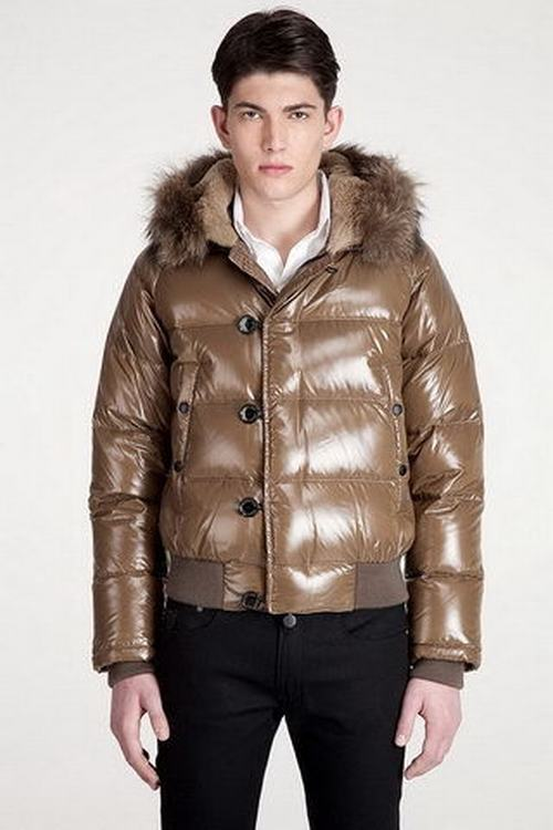 Moncler Bulgarie Men Jacket Light Brown