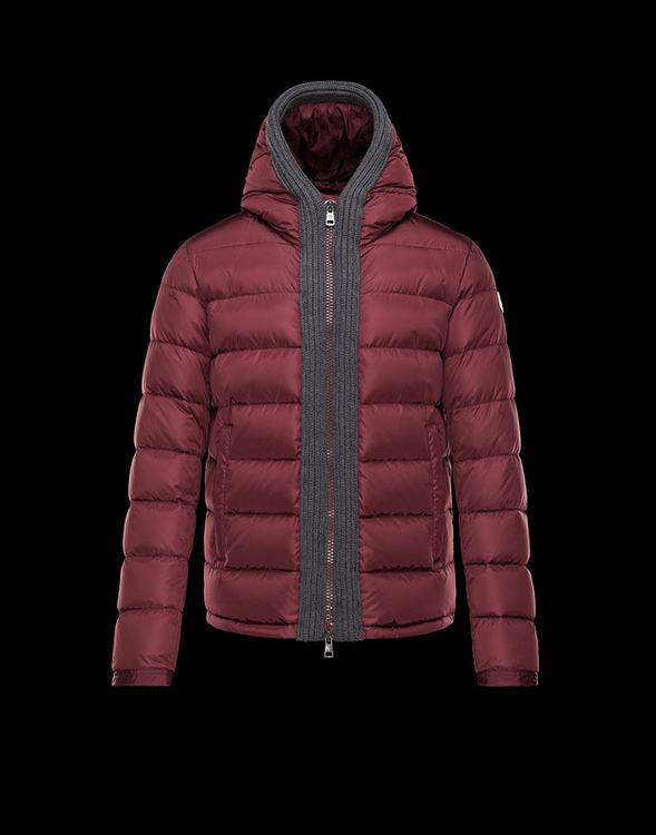 Moncler Canut Men Jacket Dark Red