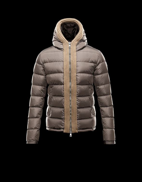 Moncler Canut Men Jacket Gold Brown