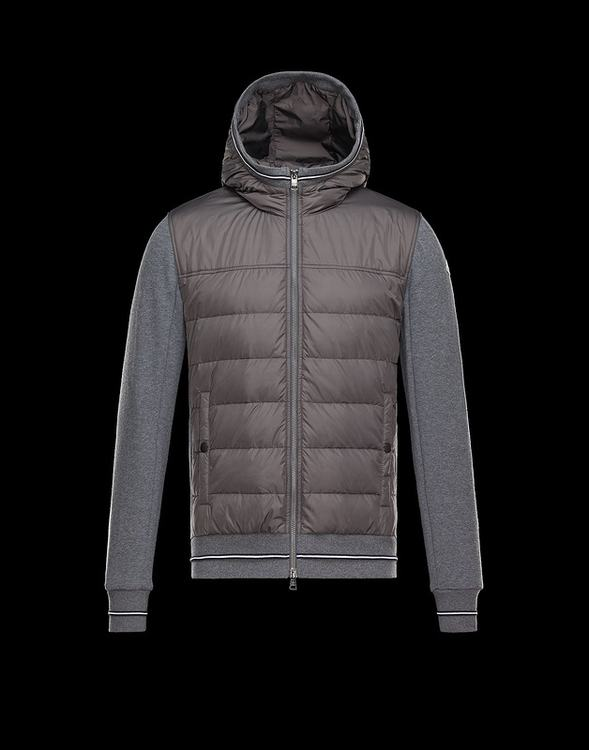 Moncler Cardigan Men Jacket Brown Grey