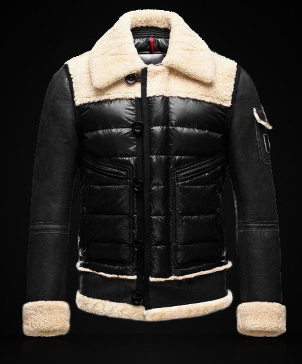 Moncler Delacroix Men Jacket Black White