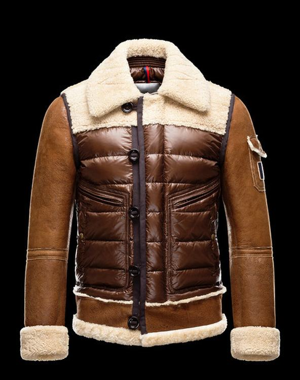 Moncler Delacroix Men Jacket Brown White