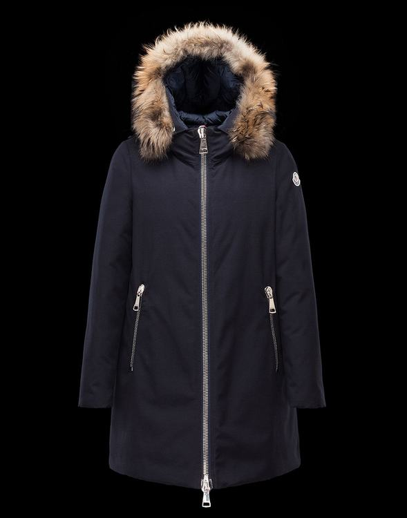 Moncler Dimtra Men Long Jacket Navy Blue
