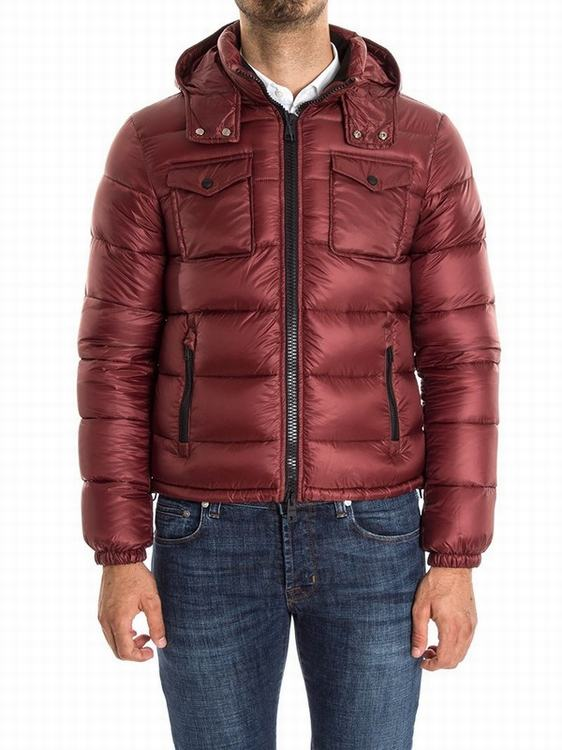 Moncler Fedor Men Jacket Wine Red