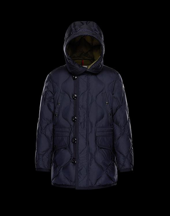 Moncler Gaillon Men Jacket Navy Blue