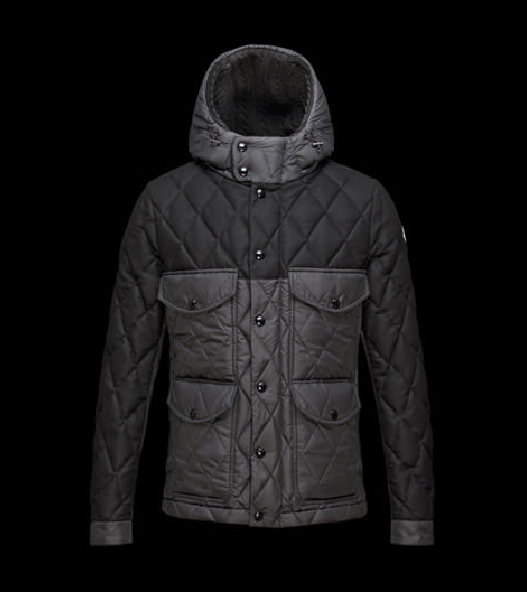 Moncler Hastiere Men Jacket Grey Black
