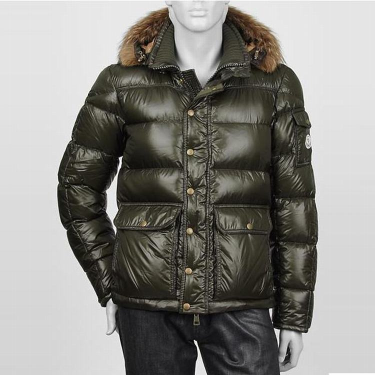 Moncler Hubert Men Jacket Army Blue
