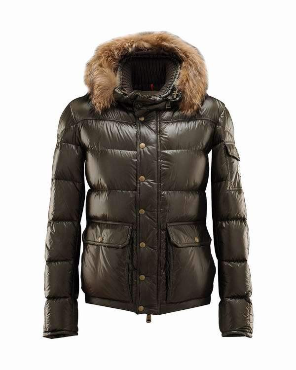 Moncler Hubert Men Jacket Brown