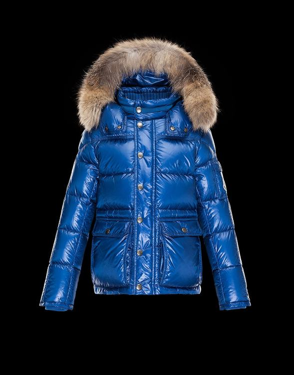 Moncler Hubert Men Jacket Sky Blue