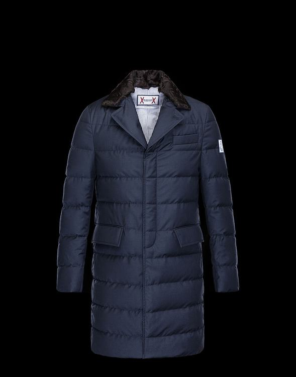 Moncler Men Long Jacket Blue