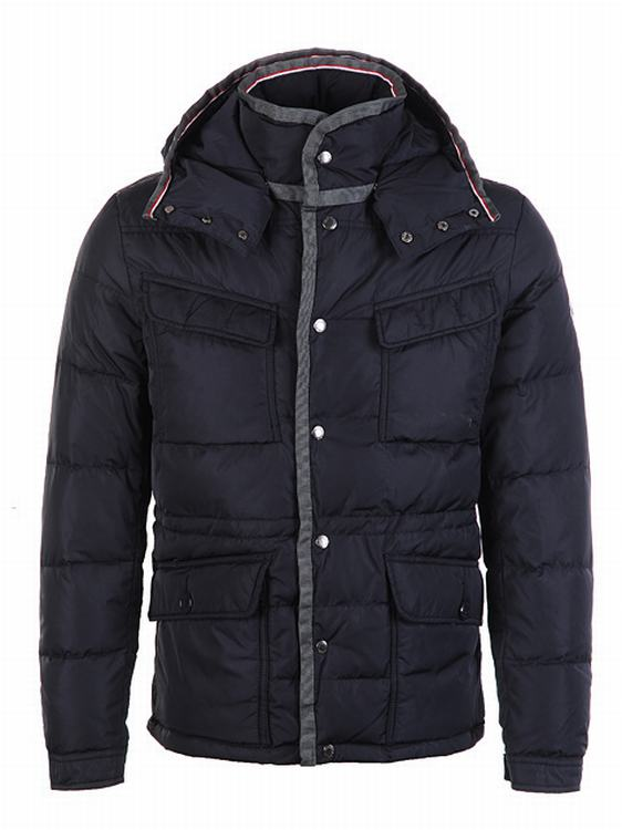 Moncler Millais Men Jacket Navy Blue Grey