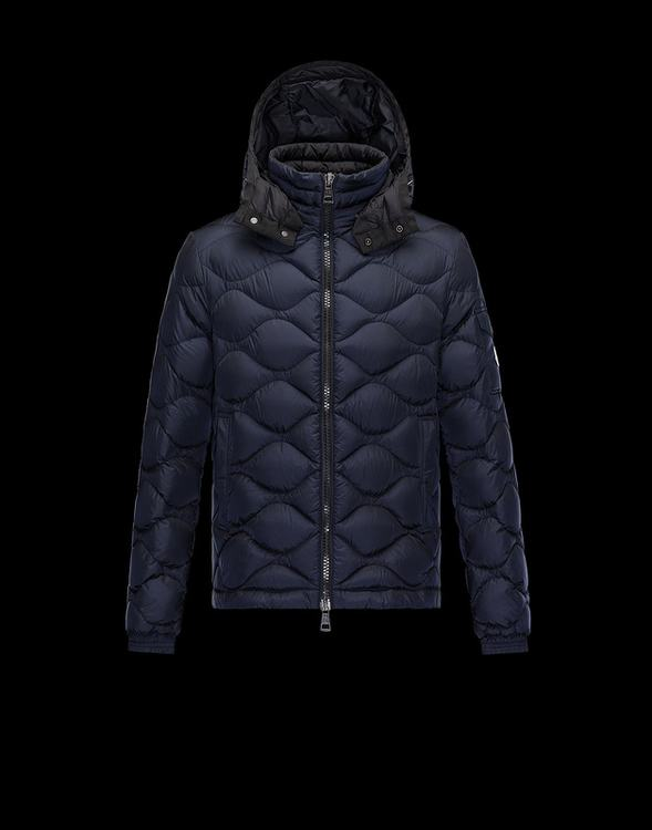 Moncler Morandieres Men Jacket Navy Blue