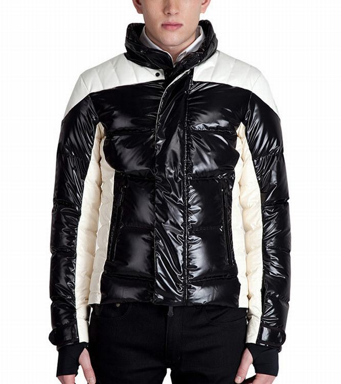 Moncler Omer Men Jacket Gloss Black White