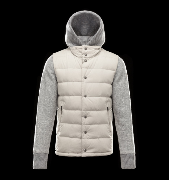 Moncler Perigord Men Jacket Grey Cream White