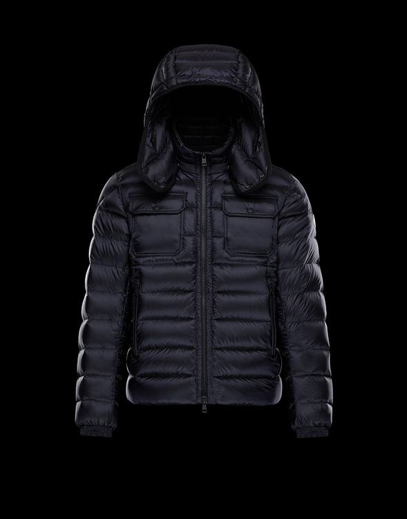 Moncler Valence Men Jacket Navy Blue
