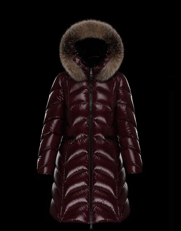 Moncler Albizia Women Jacket Wine Red