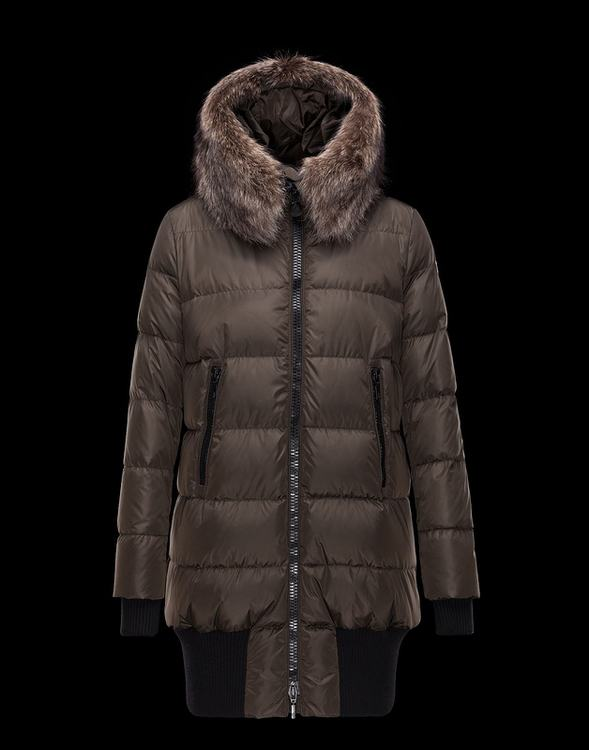 Moncler Anglas Women Jacket Brown