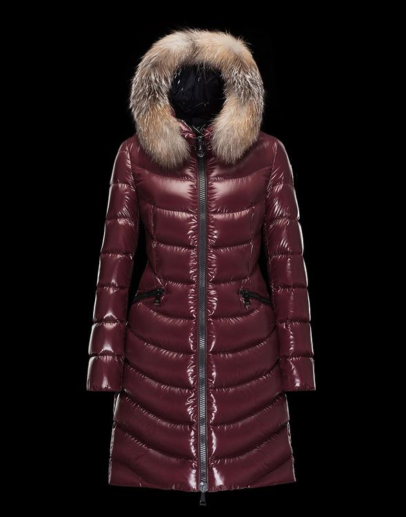 Moncler Aphia Women Jacket Wine Red