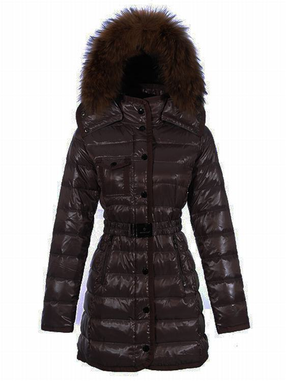 Moncler Armoise Long Women Jacket Brown